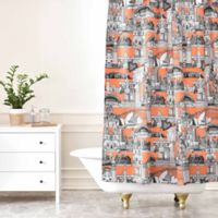 DENY Designs Sharon Turner Australia Shower Curtain in Orange