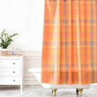 DENY Designs Allyson Johnson Fall Time Plaid Shower Curtain in Orange