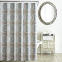Waterford® Jonet Shower Curtain in Cream/Aqua