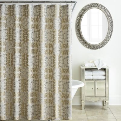WaterfordR Olivette Shower Curtain In Gold Platinum