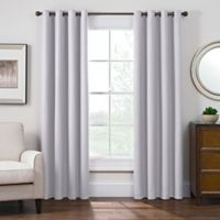Antique Satin 95-Inch Room-Darkening Grommet Top Window Curtain Panel in Crystal