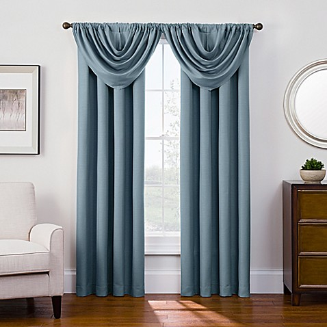 Antique Satin Room Darkening Rod Pocket Window Curtain