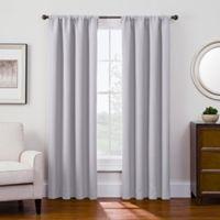Antique Satin 95-Inch Room-Darkening Rod Pocket Window Curtain Panel in Crystal