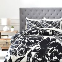 DENY Designs KAHL Arianna King Duvet Cover in Black