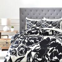 DENY Designs KAHL Arianna King Duvet Cover in Black