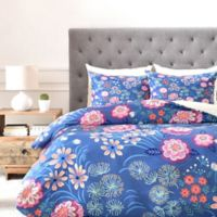DENY Designs Pimlada Phuapradit Floral Gems King Duvet Cover