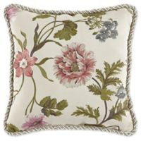 Croscill® Daphne Floral Throw Pillow in Ivory