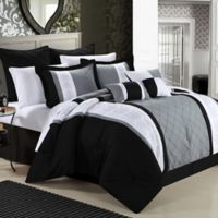 Chic Home Bryce 8-Piece King Comforter Set in Black