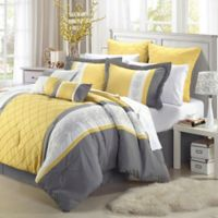Chic Home Bryce 8-Piece Queen Comforter Set in Yellow