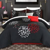 Chic Home Budz 8-Piece Queen Comforter Set in Black