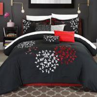 Chic Home Budz 8-Piece King Comforter Set in Black