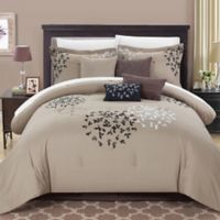 Chic Home Budz 8-Piece King Comforter Set in Taupe