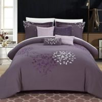 Chic Home Budz 8-Piece Queen Comforter Set in Purple