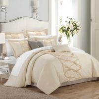 Chic Home Rossana 8-Piece King Comforter Set in Beige