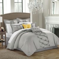 Chic Home Rossana 8-Piece King Comforter Set in Silver