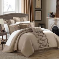Chic Home Rossana 8-Piece King Comforter Set in Taupe
