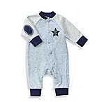 Sterling Baby Newborn Speckled French Terry Snapfront Footless Coverall in Blue