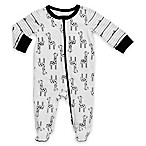 Boppy® Size 9M Giraffe Footie in Black/White