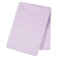 Trend Lab® Chevron Deluxe Flannel Swaddle Blanket in Lilac