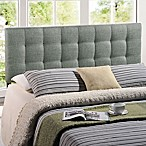 Modway Lilly Tufted Linen King Headboard in Grey