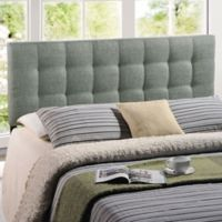 Modway Lilly Tufted Linen Queen Headboard in Grey