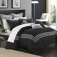 Chic Home Courtney 12-Piece King Comforter Set in Black