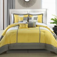 Chic Home Dorby Queen 12-Piece Comforter Set in Yellow