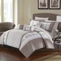 Chic Home Adam 8-Piece Twin Comforter Set in Beige