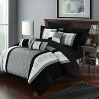 Chic Home Adam 10-Piece Queen Comforter Set in Grey