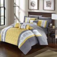 Chic Home Adam 10-Piece King Comforter Set in Yellow