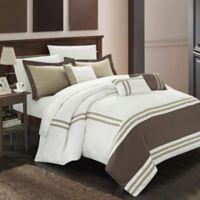 Chic Home Aero 10-Piece Queen Comforter Set in Beige