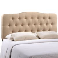 Modway Annabel Tufted Queen Headboard in Beige