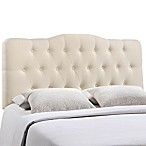 Modway Annabel Tufted King Headboard in Ivory