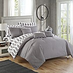 Chic Home Dieren 10-Piece Reversible King Comforter Set in Grey