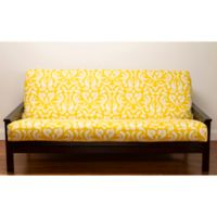 SIScovers® Adele Microfiber Full Futon Slipcover in Yellow/White