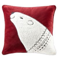 Madison Park Blissful Bear Square Throw Pillow