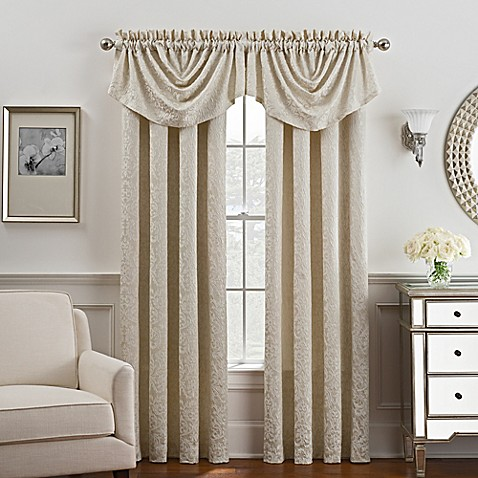 Serena Rod Pocket Back Tab Window Curtain Panel And Valance Bed Bath Beyond