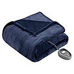 Beautyrest® Heated Microlight-to-Berber King Blanket in Indigo