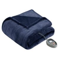 Beautyrest® Heated Microlight-to-Berber Blanket in Indigo