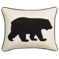 Eddie Bauer® Bear 16-Inch x 20-Inch Oblong Throw Pillow in Black