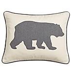 Eddie Bauer® Bear 16-Inch x 20-Inch Oblong Throw Pillow in Charcoal