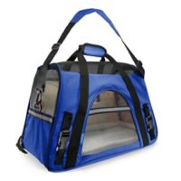 OxGord Large Soft Sided Dog/Cat Carrier in Dark Blue