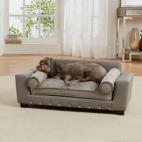 Enchanted Home Faux Leather Scout Lounge Sofa in Grey