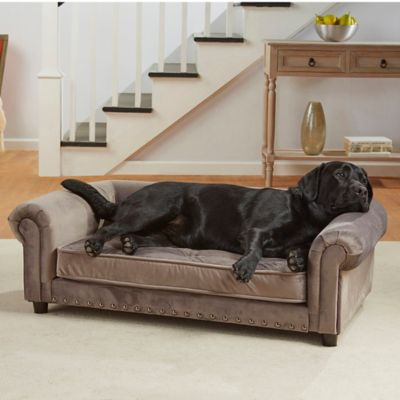 Attrayant Enchanted Home Velvet Tufted Manchester Pet Sofa In Grey