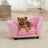 Enchanted Home Pet Small Ultra Plush Snuggle Bed in Pink