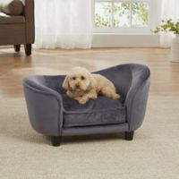 Enchanted Home Pet Small Ultra Plush Snuggle Bed in Quicksilver