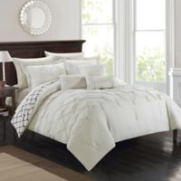 Chic Home Plymouth 10-Piece Queen Comforter Set in Beige