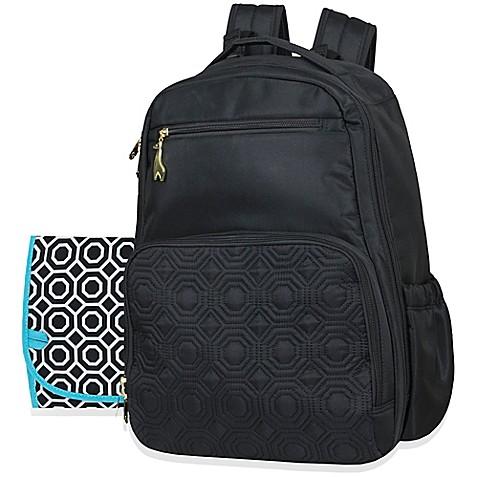 Jonathan Adler 174 Quilted Backpack Diaper Bag In Black Bed