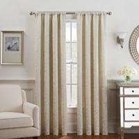 Serena 84-Inch Rod Pocket/Back Tab Window Curtain Panel in Cream