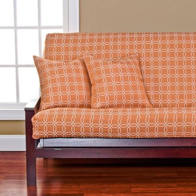 Siscovers Mandarin Loveseat Futon Cover In Orange White